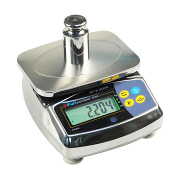 Water-resistant/Waterproof Bench Scale with Stainless Steel Housing and LCD Indicator