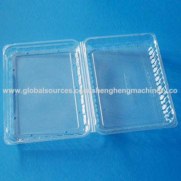 Plastic fruit packaging container, 500 grams