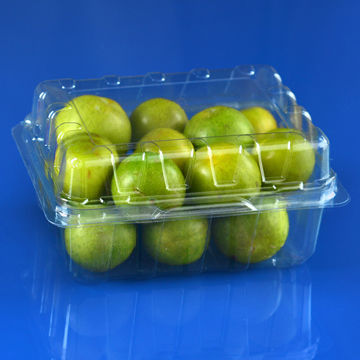 Square clamshell transparent disposable blister plastic fruit box
