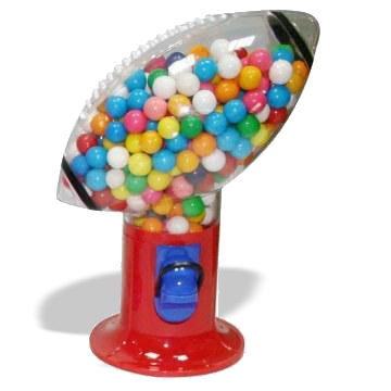 Plastic Gumball Dispensers, Available in Various Sports Ball Designs