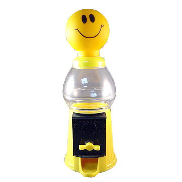 Smiley Face Gumball Machine, Made of Nontoxic Plastic