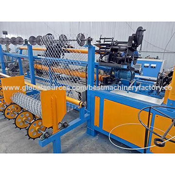 China professional supplier chain link fence weaving machine